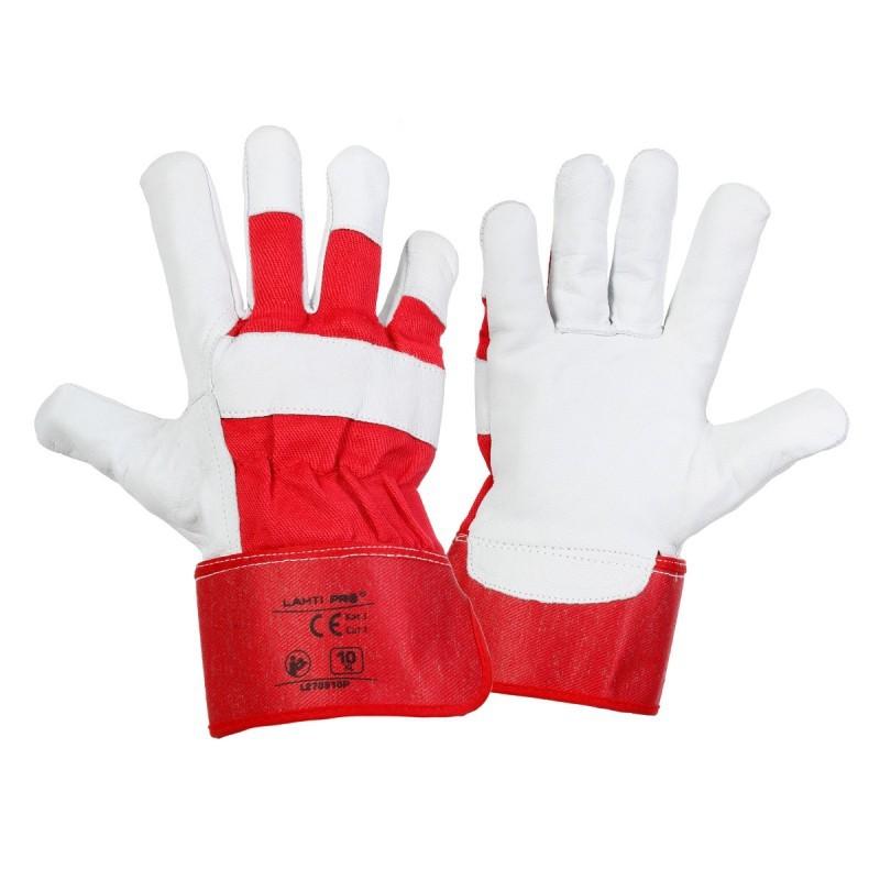 fd6ac73944ea4b Rękawice ochronne Lahti Pro L2709 wykonano z bawełny oraz skóry koziej.  Wykonanie części chwytnej rękawicy z jednego kawałka skóry zwiększa  trwałość ...