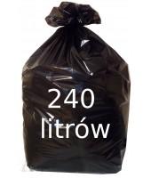Worki na śmieci 240L czarne...