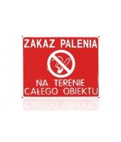 Zakaz palenia - Tablica...
