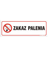 Naklejka I  Zakaz palenia