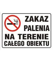 Naklejka I  Zakaz palenia...