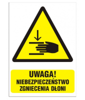 Naklejka 10x14 cm UWAGA...
