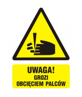 Naklejka 10x14 cm UWAGA!...