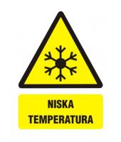 Naklejka 5x7 cm | NISKA TEMPERATURA
