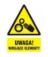 Naklejka 7x5cm | UWAGA...