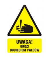 Naklejka 7x5 cm | UWAGA!...