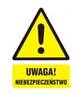 Naklejka 7x5 cm UWAGA!...