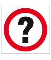Znak 33 x 33 cm PCV - Znak...