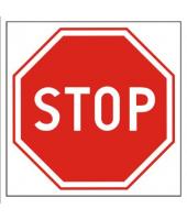 Znak 33 x 33 cm PCV - Stop
