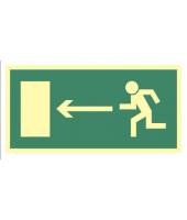 Kierunek do wyjścia w lewo...