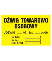 Naklejka 16x10| Dźwig...